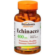 Sundown Echinacea Whole 400mg Cap 100ct