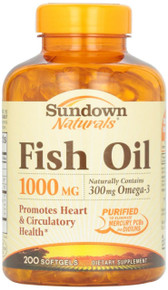 Sundown Fish Oil 1000mg Softgel 200ct