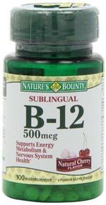 Nature Bounty Vit B12 500mcg Lozenge 100ct