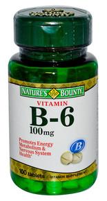 Nature Bounty Vit B6 100mg Tablet 100ct