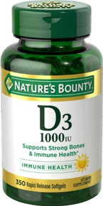 Nature Bounty Vitamin D3 1000iu Softgel 350ct