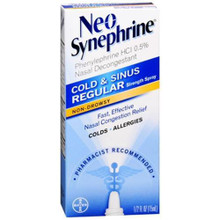 Neo-Synephrine Nasal Decongestant Spray Regular Strength 0.50 oz