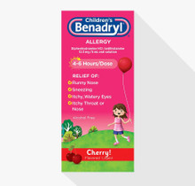 Benadryl Allergy Liquid Cherry 4 oz