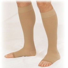 Truform 865: 20-30 Knee High Open Toe Compression Stockings