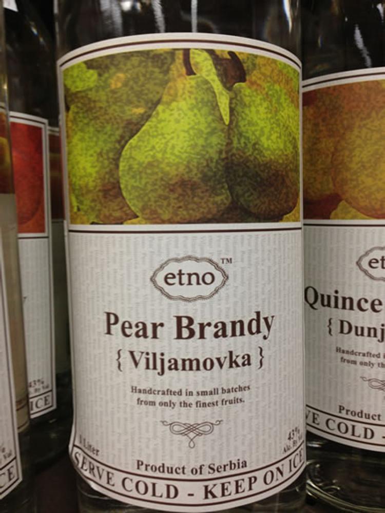 Etno Pear Brandy Viljamovka