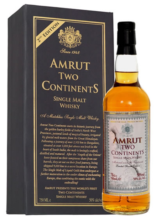 Amrut Two Continents Single Malt 750ML