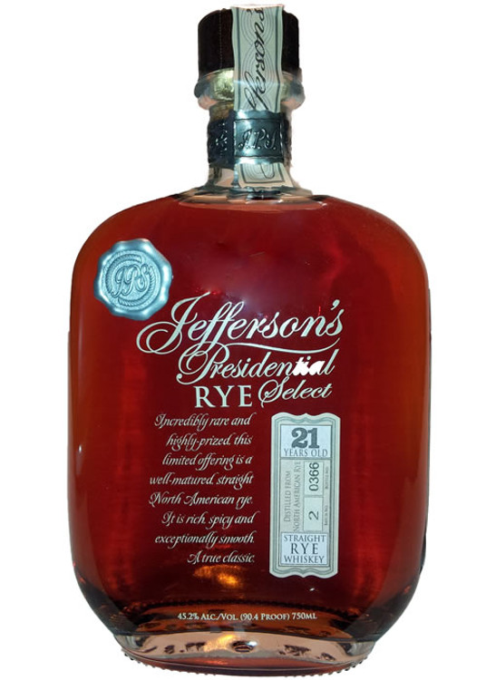 Jefferson's Presidential Select 21 Year Rye