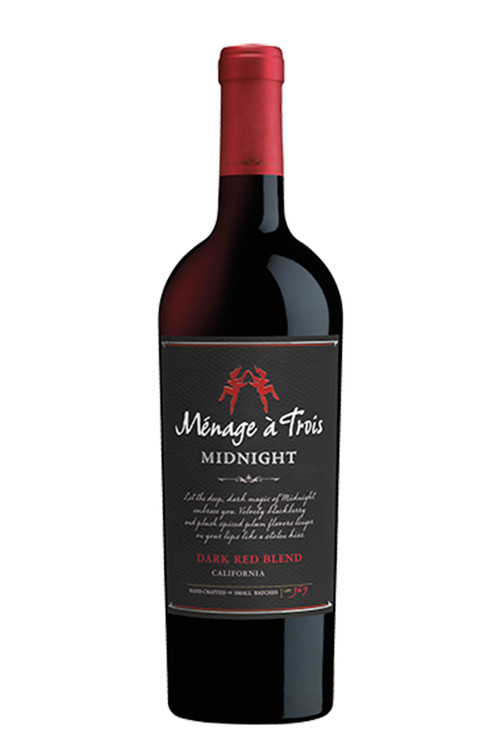 Menage A Trois Midnight Dark Red Blend