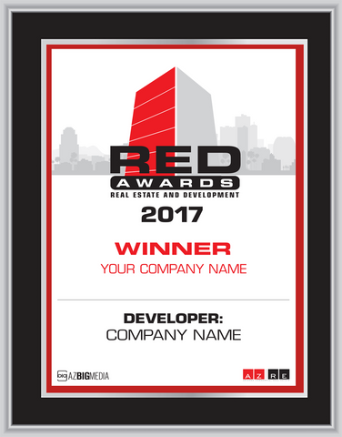Red Awards Plaque Style A:  Please select either Winner (if your company won) or Finalist (if your company was a finalist).