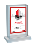 Red Awards Plaque Style C:  Please select either Winner (if your company won) or Finalist (if your company was a finalist).