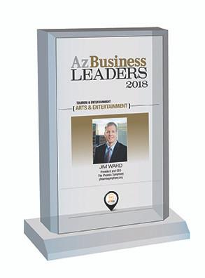 Az Business Leaders Plaque Style C: Desktop plaque