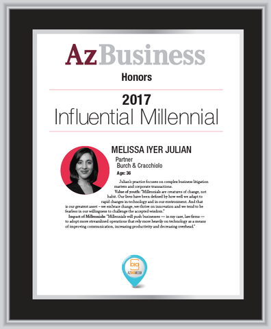 Influential Millennials 2017 Single Plaque Style A