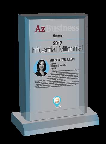 Influential Millennials 2017 Plaque Style C Desk Plaque