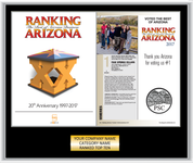Ranking Arizona Plaque Style B: Exact cover and modified page - Black with silver trim.