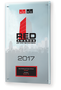 Red Awards Plaque Style B (11.25 x 16.50):  Please use the comment box to let us know how you would like your plaque to read.  Example: Best Infill Project Winner, Discovery Business Campus, Developer: Wentworth Property Company.  We can also do Finalist plaques. Contact us at (602)277-6045 X 238 with any questions.