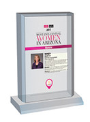 AZRE Most Influential Women Style B Plaque - Desktop Marquee with photo