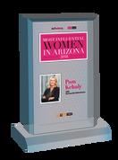 """AZ Business / AZRE magazine 2018 Most Influential Women Desktop Plaque - Style C (with photo) Size is 6"""" X 9"""""""