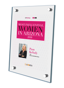 """AZ Business / AZRE magazine 2018 Most Influential Women Acrylic Wall Plaque Style B (with photo) Size is 11"""" x 16.5"""""""