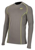 Mens  - Grey - Klim Aggressor 1.0 Base Layer Top Shirt
