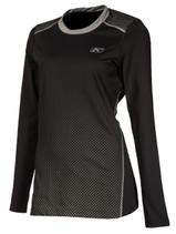 Womens  - Black - Klim Solstice 1.0 Base Layer Top Shirt