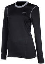 Womens  - Black - Klim Solstice 2.0 Base Layer Top Shirt