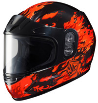 HJC CL-Y Flame Face Framed Dual Lens Shield Helmet