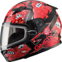 GMax GM49Y Attack Dual Lens Snowmobile Helmet