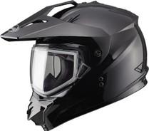 GMax GM11S Solid Dual Lens Snow Sport Snowmobile Helmet
