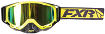 Adult Smoke Lens w/ Lazer Finish - Hi-Vis Yellow/Black/White - FXR Core Goggle 2017