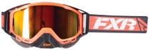 Adult Smoke Lens w/ Orange Finish - Orange/Black/White - FXR Core Goggle 2017