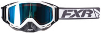 Adult Smoke Lens w/ Cobalt Blue Finish - White/Black - FXR Core Goggle 2017