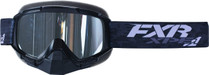 Adult Smoke Lens w/ Platinum Silver Finish - Black - FXR Mission XPE Goggle 2017