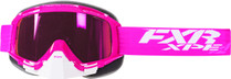 Adult Smoke Lens w/ Atomic Pink Finish - Fuchsia/White - FXR Mission XPE Goggle 2017