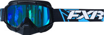 Adult Smoke Lens w/ Cobalt Blue Finish - Black/Blue - FXR Mission Recon Speed Goggle 2017