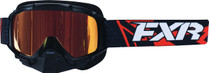 Adult Smoke Lens w/ Orange Finish - Black/Orange - FXR Mission Recon Speed Goggle 2017