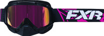 Adult Smoke Lens w/ Atomic Pink Finish - Black/Fuchsia - FXR Mission Recon Speed Goggle 2017