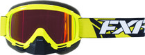 Adult Smoke Lens w/ Solar Finish - Hi-Vis Yellow/Black - FXR Mission Recon Speed Goggle 2017