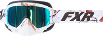 Adult Smoke Lens w/ Cobalt Blue Finish - White Camo - FXR Mission Recon Speed Goggle 2017