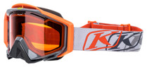 Adult - Grey/Orange - Klim Radius Pro K Corp Snowmobile Goggle 2017