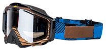 Adult - Blue/Brown/Black - Klim Radius Pro Tundra Snowmobile Goggle 2017