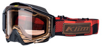 Adult - Red/Black/Brown - Klim Radius Pro Tundra Snowmobile Goggle 2017