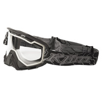 Adult - Black/White - Klim Radius Nitrous Snowmobile Goggle 2017