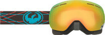 Black/Blue - Dragon X1s Pinned Frameless Snowmobile Goggles