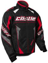 Youth  - Red/Black - CastleX Bolt G4  Jacket
