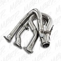 MBRP Polished Stainless Steel Header & Trail Silencer 2009-2015 Ski-Doo Renegade