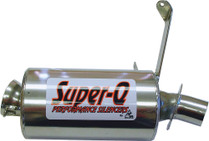 Skinz Polished Ceramic Super-Q Silencer 1998-2000 Arctic Cat Powder Special 600