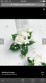 Spray Roses accented with greens.  PICKUP ONLY!   Please note color and pickup time in notes.