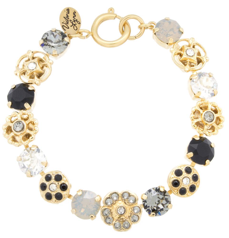 8mm Flower Sparkle Collection Bracelet