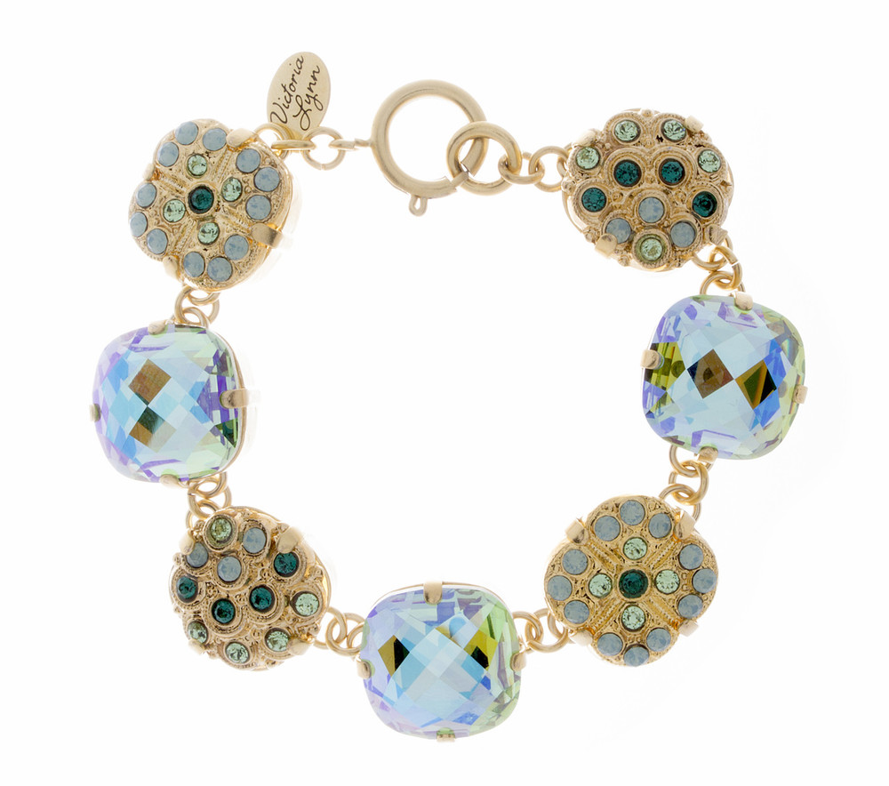 Bracelet - Sparkle Collection - 16mm Link Style - Goldtone