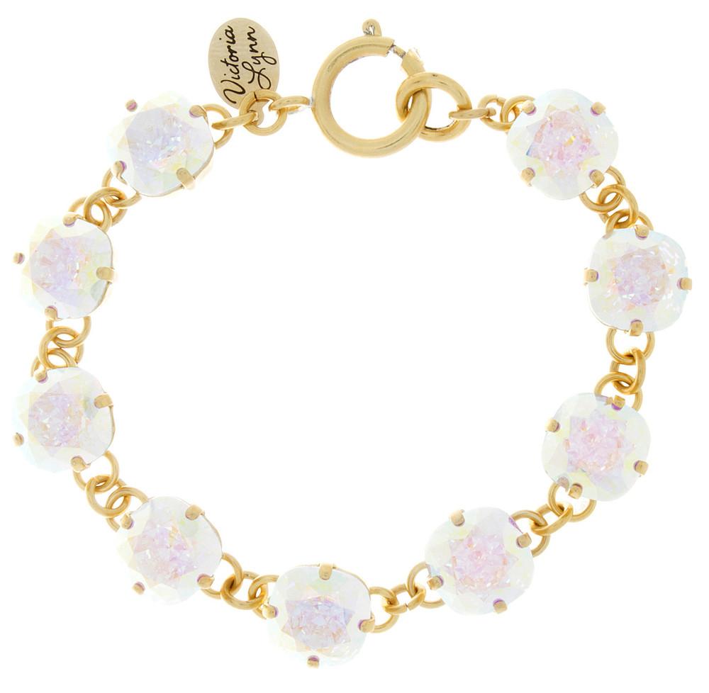 Children's 10mm Square Bracelet Gold